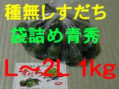 種無しすだち(袋詰め青秀)L〜2L 1kg