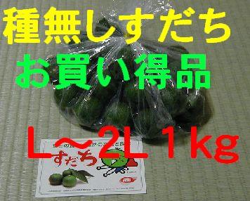 種無しすだち(お買い得品)L〜2L 1kg