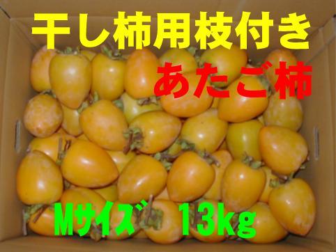 干し柿用枝付き(あたご柿)M 13kg