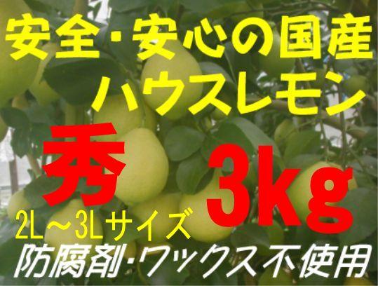 国産ハウスレモン(秀)2L〜3L 3kg